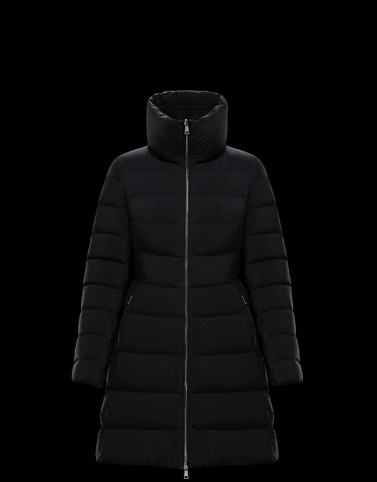NEVALON Black Long Down Jackets Woman