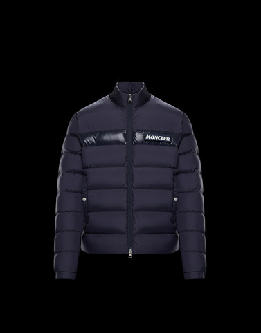 SERVIERES Dark blue Down Jackets Man