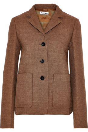 JIL SANDER Wool-tweed blazer
