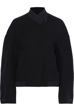 JIL SANDER Shirred wool-felt jacket