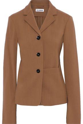 JIL SANDER Wool-crepe blazer