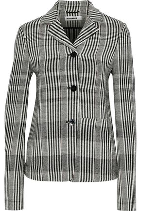 JIL SANDER Checked wool-blend blazer