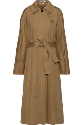 JIL SANDER Cotton-gabardine trench coat