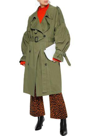 PUSHBUTTON Cotton-gabardine trench coat