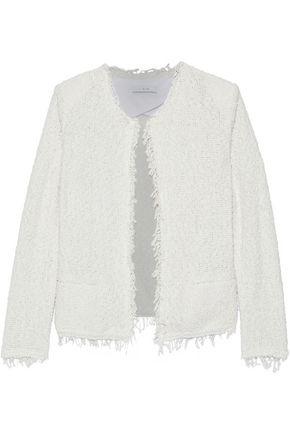 IRO Shavani frayed cotton-blend bouclé-tweed jacket