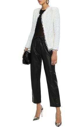 Iro Woman Shavani Frayed Cotton-Blend Bouclé Jacket Off-White