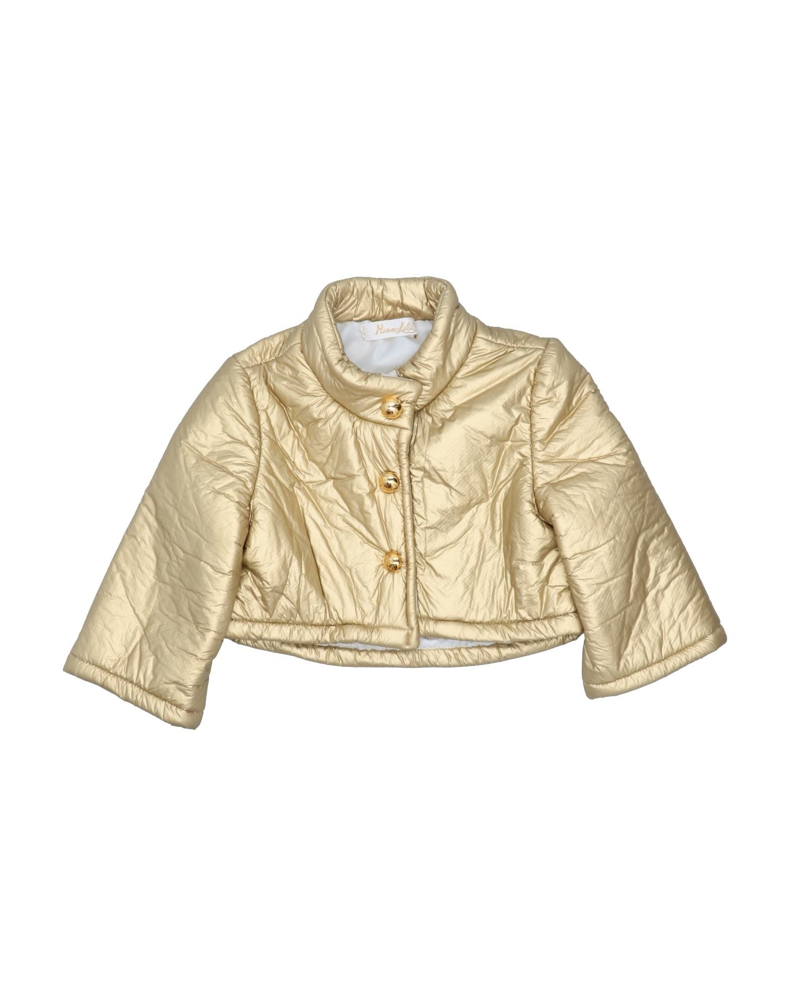 Miss Lulù Kids' Jackets In Gold