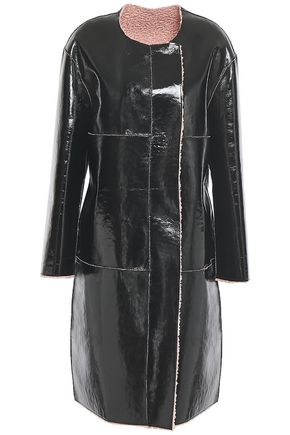 STAND STUDIO Idette reversible faux shearling and vinyl coat