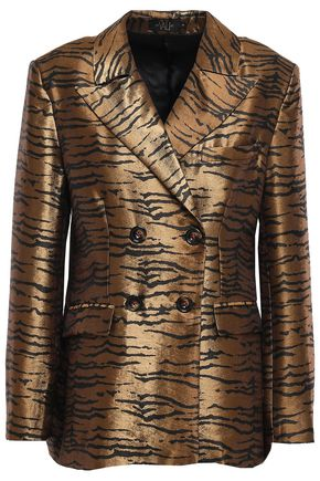 DE LA VALI Tiger Lily double-breasted jacquard blazer