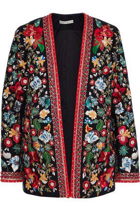 ALICE + OLIVIA Jenice embellished linen blazer