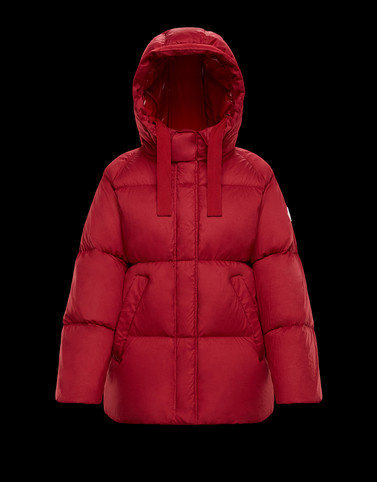 NERUM Red Short Down Jackets Woman