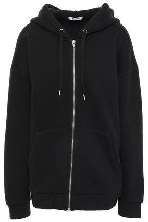 ALEXANDERWANG.T Cotton-blend fleece hooded jacket