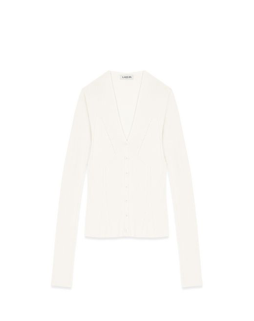 CARDIGAN IN CASHMERE AND SILK - Lanvin