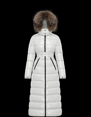 HUDSON White Category Long outerwear Woman