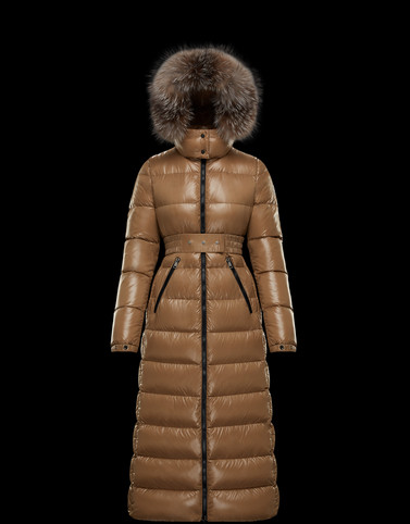 HUDSON Light brown Category Long outerwear Woman