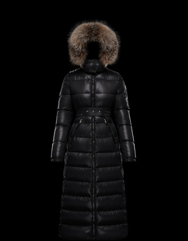 HUDSON Black Category Long outerwear Woman