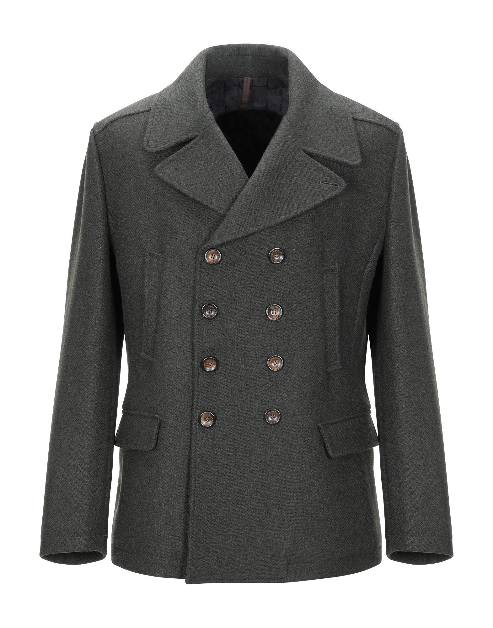 《期間限定セール中》LABORATORI ITALIANI メンズ コート グリーン 56 ウール 65% / ポリエステル 30% / 指定外繊維 5%