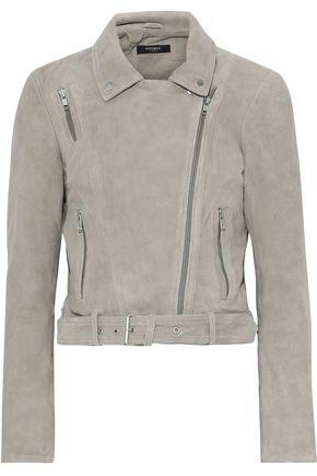 MUUBAA Cerinthe cropped suede biker jacket
