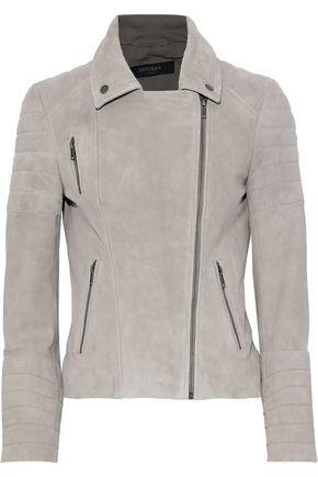 MUUBAA Rosetta quilted suede biker jacket