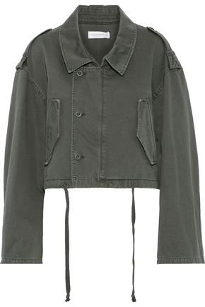 FAITH CONNEXION Cropped cotton-canvas jacket