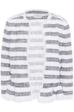 KATE SPADE New York Frayed cotton-blend jacquard jacket