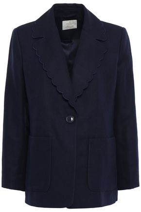KATE SPADE New York Silk and linen-blend blazer