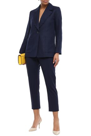 KATE SPADE New York Silk and linen-blend blazer