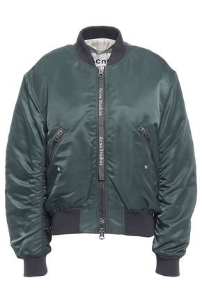 ACNE STUDIOS Clea ruched sateen bomber jacket