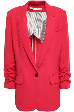VERONICA BEARD Gathered crepe blazer
