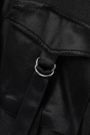 3.1 PHILLIP LIM Silk-trimmed Tencel and cotton-blend satin jacket