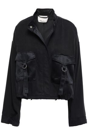 3.1 PHILLIP LIM Silk-trimmed Tencel and cotton-blend satin jacket
