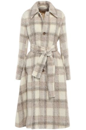 ACNE STUDIOS Belted checked knitted coat