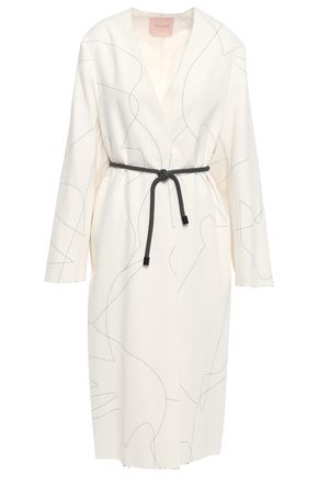 ROKSANDA Embroidered silk-cady coat