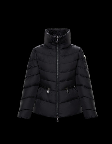 MIRIEL Black Short Down Jackets Woman