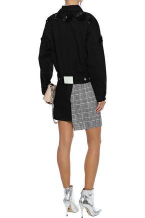 MSGM Sequin-embellished denim jacket