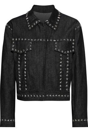 NORMA KAMALI Studded denim jacket