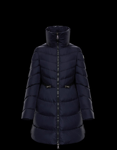 MIRIELON Dark blue Long Down Jackets Woman