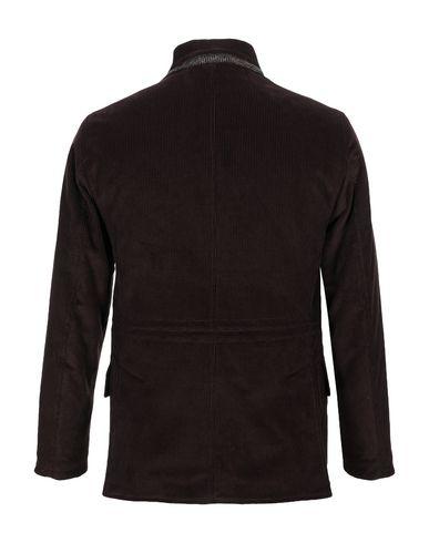 Фото 2 - Мужское пальто или плащ MANIFATTURA CECCARELLI темно-коричневого цвета