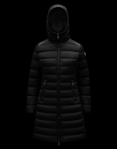 TALEV Black Long Down Jackets Woman