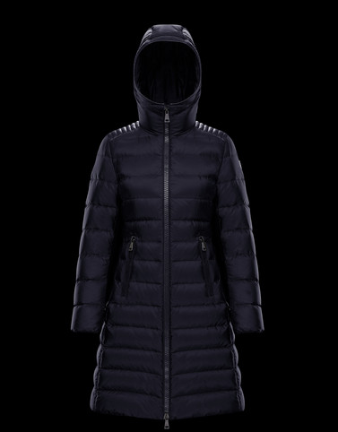 TALEV Dark blue Long Down Jackets Woman