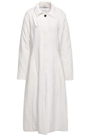 JIL SANDER Crinkled silk-blend coat