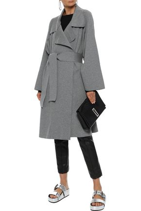 NORMA KAMALI Dolman 80's belted French cotton-blend terry coat