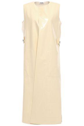 JIL SANDER Coated wool-blend vest