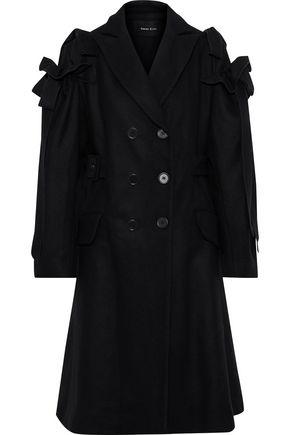 SIMONE ROCHA Double-breasted ruffle-trimmed wool-blend felt coat