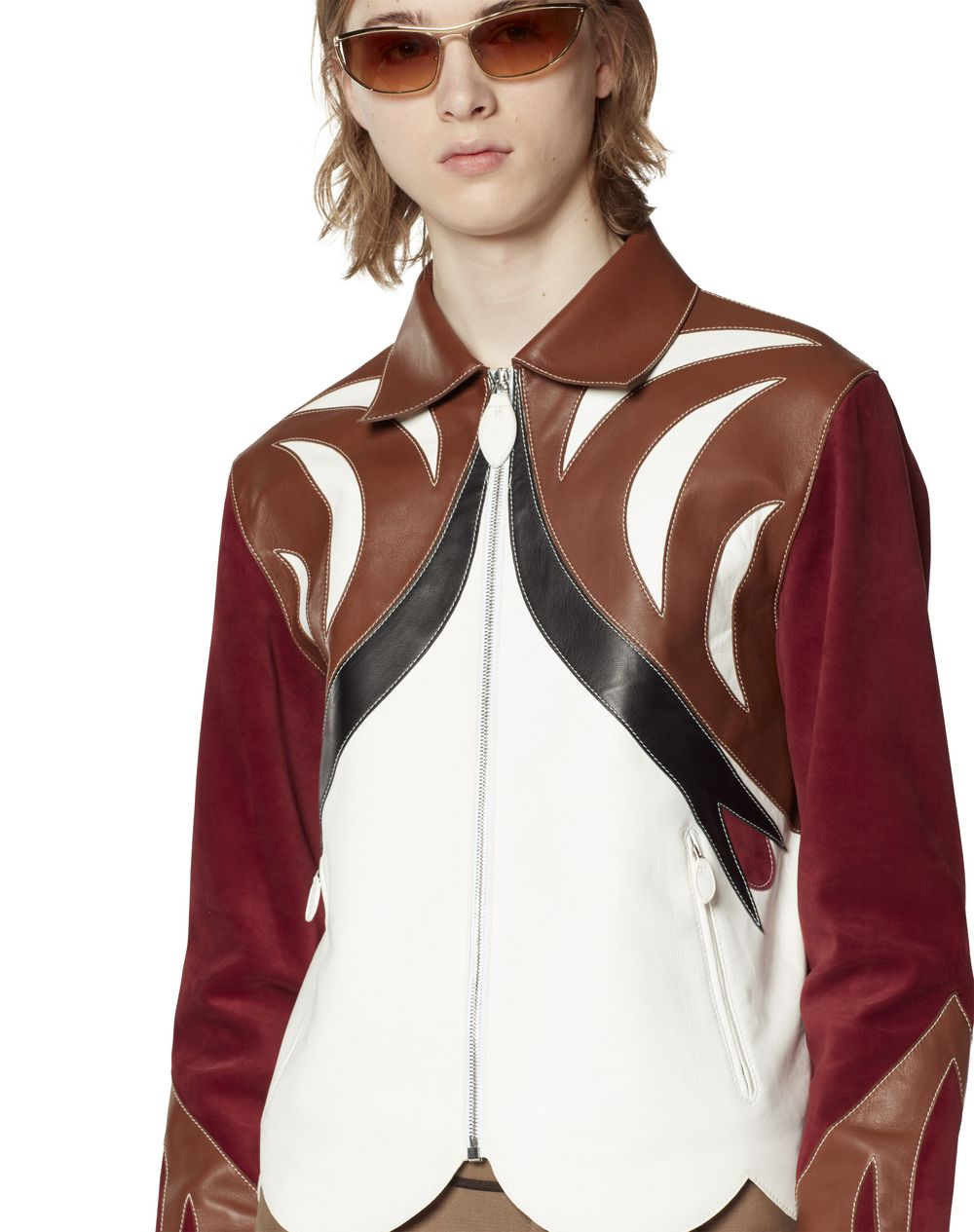 PARROT LEATHER JACKET - Lanvin