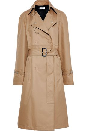 PACO RABANNE Belted cotton-blend gabardine trench coat