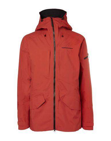 Фото - Мужскую куртку PEAK PERFORMANCE ржаво-коричневого цвета