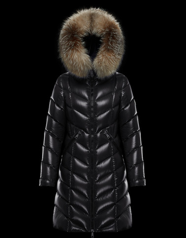 FULMARUS Black Long Down Jackets Woman