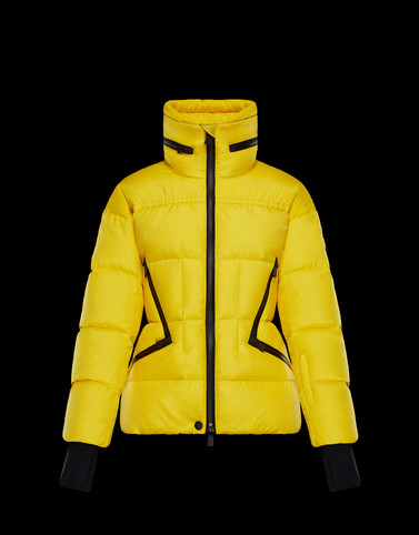 DIXENCE Yellow Short Down Jackets Woman