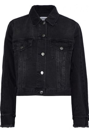 FRAME Cropped denim jacket